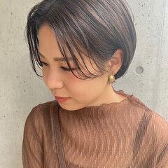 暗髪バイオレット ハンサムショート ベリーショート ショート ヘアスタイルや髪型の写真・画像