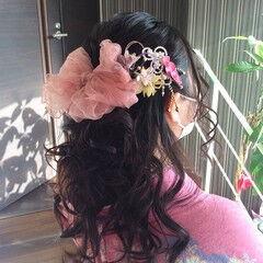 卒業式 ふわふわヘアアレンジ ミディアム ナチュラル ヘアスタイルや髪型の写真・画像