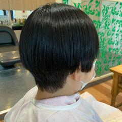 縮毛矯正 艶髪 ナチュラル ショート ヘアスタイルや髪型の写真・画像