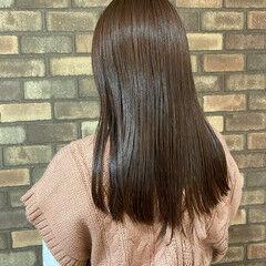 春スタイル イルミナカラー ピンクアッシュ ロング ヘアスタイルや髪型の写真・画像