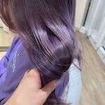 透明感カラー ナチュラル セミロング 艶髪