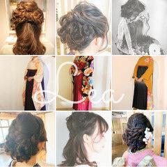 和装 エレガント 和装髪型 イルミナカラー ヘアスタイルや髪型の写真・画像