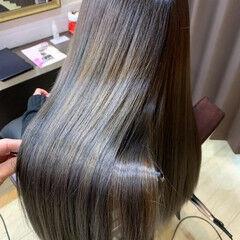 髪質改善 トリートメント 縮毛矯正 ロング ヘアスタイルや髪型の写真・画像