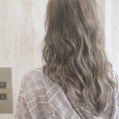 ナチュラル ミルクティーグレージュ ミルクティー ミディアム ヘアスタイルや髪型の写真・画像