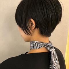 ショート 黒髪ショート ナチュラル ベリーショート ヘアスタイルや髪型の写真・画像