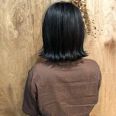 ナチュラル ボブ ショートボブ エフォートレス ヘアスタイルや髪型の写真・画像