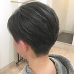 黒髪 刈り上げ女子 刈り上げ コンサバ