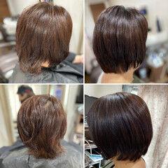 縮毛矯正 髪質改善トリートメント 頭皮改善 髪質改善カラー ヘアスタイルや髪型の写真・画像
