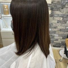 髪の病院 美髪 セミロング 縮毛矯正 ヘアスタイルや髪型の写真・画像