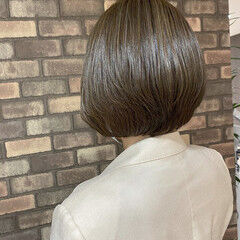 イルミナカラー ボブヘアー 艶髪 N.オイル ヘアスタイルや髪型の写真・画像