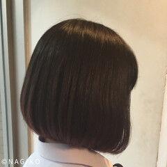 ボブ デート ナチュラル 艶髪 ヘアスタイルや髪型の写真・画像