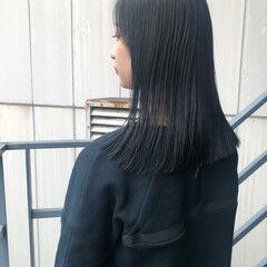 ストリート ブルージュ ミディアム グレージュ ヘアスタイルや髪型の写真・画像