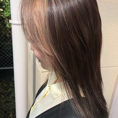 ロング エレガント コントラストハイライト 大人ハイライト ヘアスタイルや髪型の写真・画像