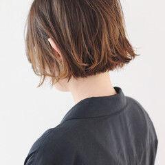 ショート ハイライト ストリート 地毛風カラー ヘアスタイルや髪型の写真・画像