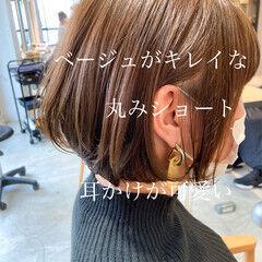 ハイライト ナチュラル アッシュベージュ アンニュイほつれヘア ヘアスタイルや髪型の写真・画像