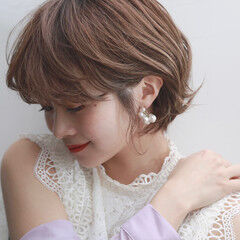 ガーリー 韓国ヘア 韓国風ヘアー ショートヘア ヘアスタイルや髪型の写真・画像