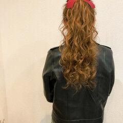 ポニーテール 結婚式 ヘアアレンジ フェミニン ヘアスタイルや髪型の写真・画像