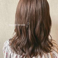 初カラー ナチュラル ヌーディベージュ ショコラブラウン ヘアスタイルや髪型の写真・画像