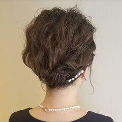 ヘアアレンジ ショート 結婚式ヘアアレンジ エレガント ヘアスタイルや髪型の写真・画像