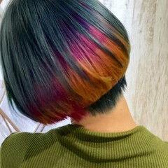 ブリーチ必須 うる艶カラー モード ボブ ヘアスタイルや髪型の写真・画像