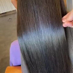 最新トリートメント 髪質改善トリートメント トリートメント ストレート ヘアスタイルや髪型の写真・画像