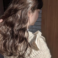 大人かわいい ナチュラル ロング イルミナカラー ヘアスタイルや髪型の写真・画像