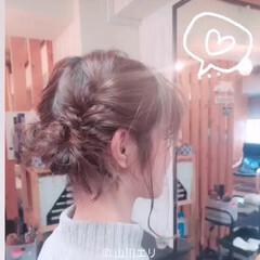 ツインテール ガーリー 編み込み ふんわり ヘアスタイルや髪型の写真・画像