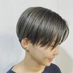 透明感 ショートヘア ツーブロック ショート