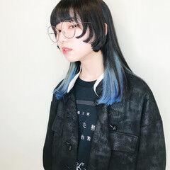 マッシュMIX マッシュ マッシュヘア インナーカラー ヘアスタイルや髪型の写真・画像