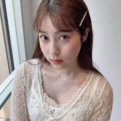 ロング ナチュラル 韓国 韓国ヘア ヘアスタイルや髪型の写真・画像