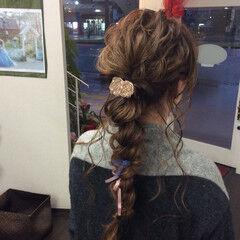 結婚式ヘアアレンジ 編み込みヘア ナチュラル ヘアアレンジ ヘアスタイルや髪型の写真・画像