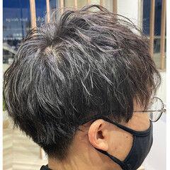メンズヘア メンズパーマ ツーブロック ショート ヘアスタイルや髪型の写真・画像