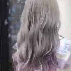 派手髪 ガーリー デザインカラー インナーカラー ヘアスタイルや髪型の写真・画像