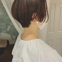 大人かわいい モード ストレート ショートパーマ ヘアスタイルや髪型の写真・画像