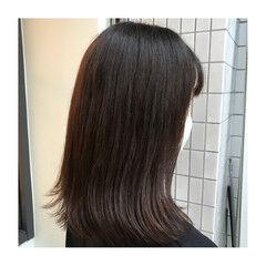 ツヤ髪 イルミナカラー アッシュブラウン 大人女子 ヘアスタイルや髪型の写真・画像