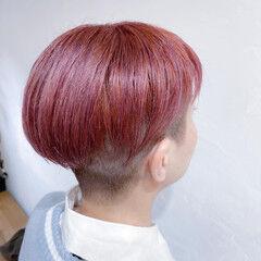 ナチュラル ピンクベージュ ブリーチオンカラー ボブ ヘアスタイルや髪型の写真・画像