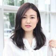 艶髪 可愛い フェミニン レイヤーカット ヘアスタイルや髪型の写真・画像