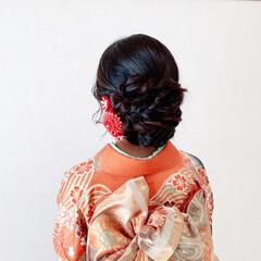 エレガント 結婚式ヘアアレンジ 振袖ヘア 和装ヘア ヘアスタイルや髪型の写真・画像