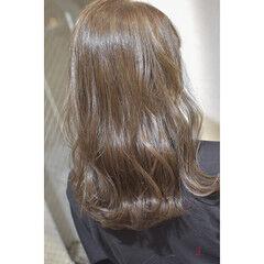 透明感カラー ブリーチなし ノーブリーチ ダブルカラー ヘアスタイルや髪型の写真・画像