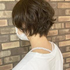ナチュラル イメチェン 透明感 大人ショート ヘアスタイルや髪型の写真・画像