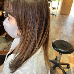 外国人風カラー ロング 簡単ヘアアレンジ ナチュラル ヘアスタイルや髪型の写真・画像