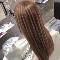 3Dハイライト ロング ストリート 外国人風カラー ヘアスタイルや髪型の写真・画像