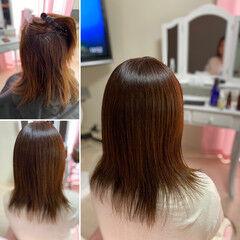 ネオウルフ 髪質改善トリートメント 髪質改善 レイヤーロングヘア ヘアスタイルや髪型の写真・画像