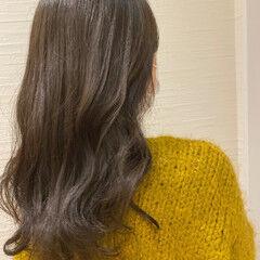韓国風ヘアー うる艶カラー ロング 秋 ヘアスタイルや髪型の写真・画像