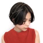 暗髪 大人かわいい アンニュイほつれヘア ハイライト