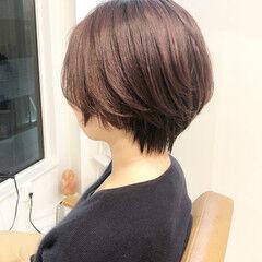 大人ショート ショートボブ イルミナカラー ショートヘア ヘアスタイルや髪型の写真・画像