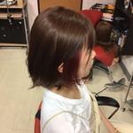 ショートヘア モード インナーピンク ミディアム