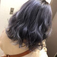 髪質改善トリートメント ハイトーン フェミニン ミディアム ヘアスタイルや髪型の写真・画像