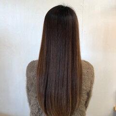 サラサラ ロング ナチュラル 美髪 ヘアスタイルや髪型の写真・画像