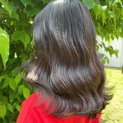 ブルーブラック 韓国 タンバルモリ 韓国ヘア ヘアスタイルや髪型の写真・画像